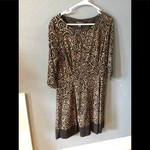 Black and bronze dress